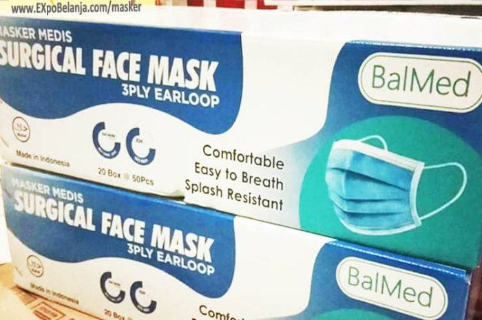 masker medis surgical face mask 3 ply earloop