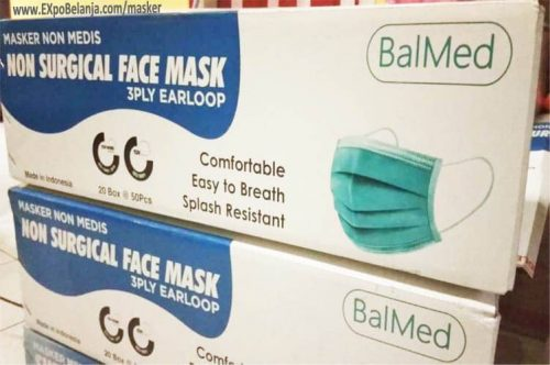 masker non medis non surgical face mask 3 ply earloop